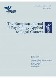 European Journal of Psychology applied to Legal Context