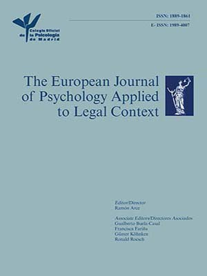 Cover of European Journal of Psychology Applied to Legal Context
