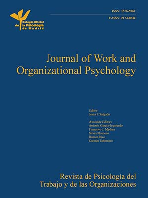 Cover of Journal of Work and Organizational Psychology