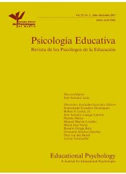 Revista Psicología Educativa